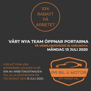 Ny bilverkstad på Värmlandsvägen i Karlskoga 2020