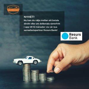 Delbetala ditt verkstadsbesö  med Resurs Bank